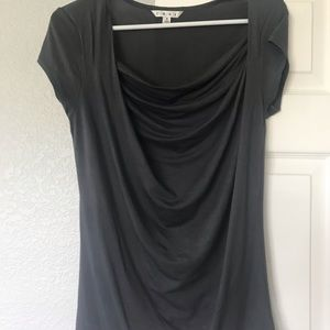 CAbi ruched dark gray top